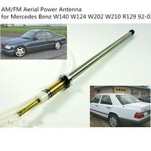 CARCHET Antena de coche mástil cuerda de acero inoxidable AM/FM Antena de alimentación aérea para Mercedes Benz W124 W140 W202 W210 R129 92 02