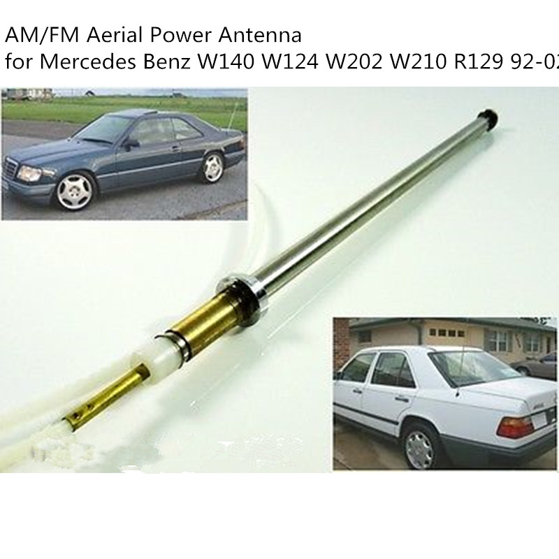 CARCHET Car Power Antenna Mast Stainless Steel Cord AM/FM Aerial Power Antenna for <font><b>Mercedes</b></font> <font><b>Benz</b></font> <font><b>W140</b></font> W124 W202 W210 R129 92-02 image
