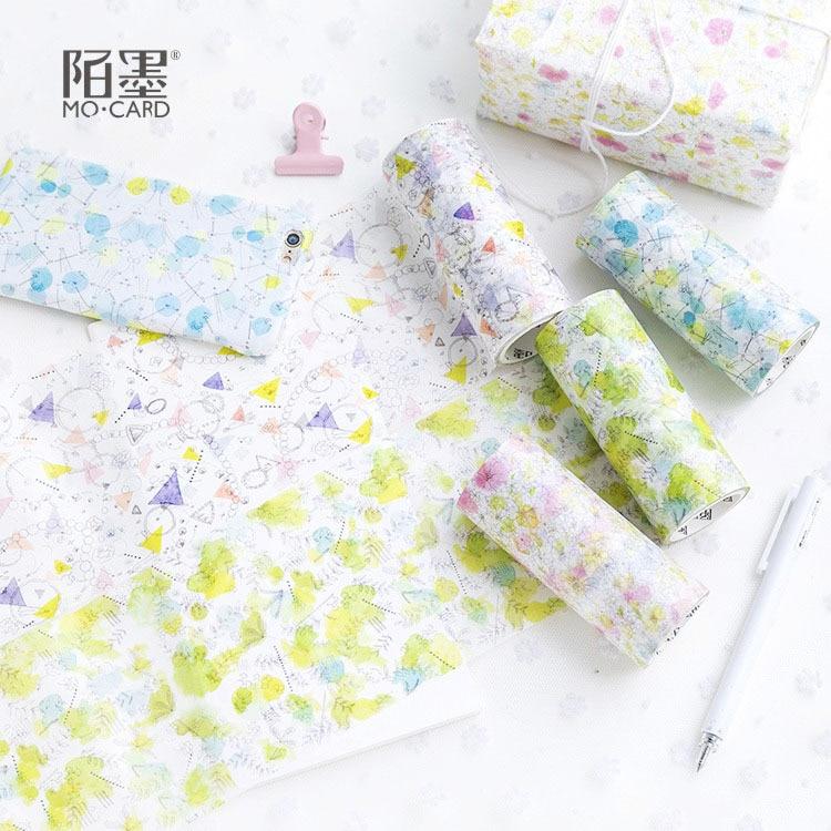 10 Cm Wide Half Warm Time Paper Washi Tape Adhesive Tape DIY Scrapbooking Sticker Label Masking Tape