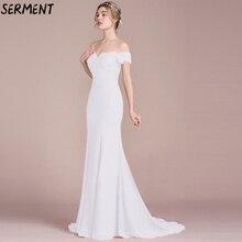 Free shipping Vestidos De Fiesta Largos Elegantes Gala New High-end One-shoulder Sleeveless White Elegant Evening Dress