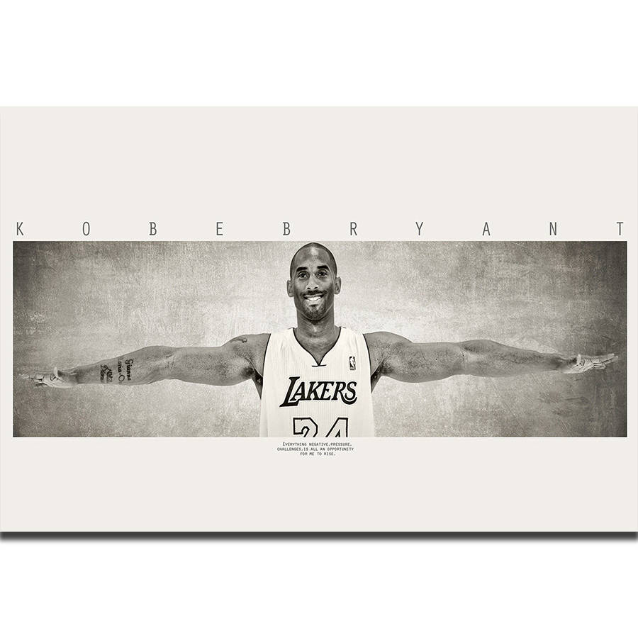 S1964 Kobe Bryant Wings Basketball Player MVP Wall Art