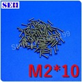200pcs Hot Selling M2*10 Stainless Steel Machine Phillip Flat Head Screw DIN965 Cross Recessed Countersunk Head Screw
