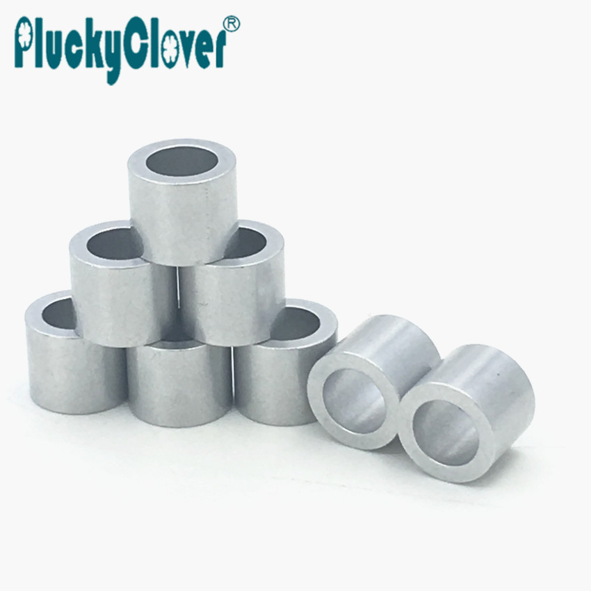 8pcs 7.2mm Silver Aluminium 627 Bearing Spacer For Scooter Inline Skate Stunt Kick Scooter Speed Roller Skating Axis Sleeve 627
