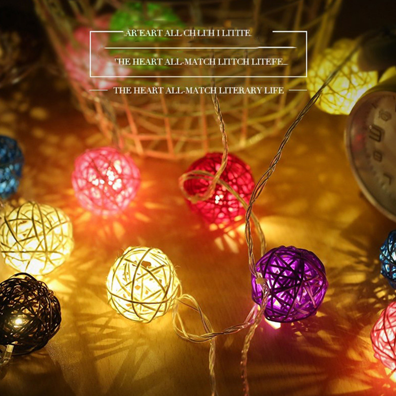 vusum 5M 20 LED Sepak takraw ball lights Bedroom Decoration Lights Stars lights Christmas Day Lantern ...