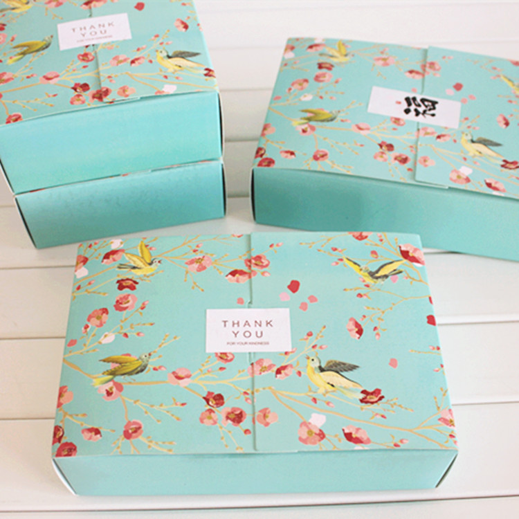 Us 12 08 23 Off Rectangle Autumn Festival Flowers 50 Grams 6 Pieces Of Moon Cake Packaging Box Egg Yolk Puff Cookie Box Pastry Cake Baking Box In