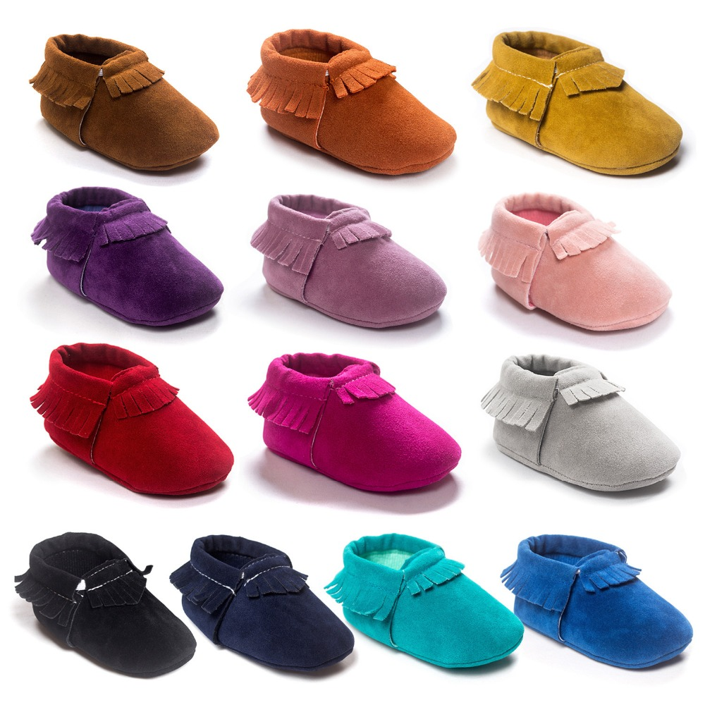 Babymocassiner skor flickor pojkar First Walkers heta moccs Soft Bottom Toxor Nyfödda skor Bebe.CX20C