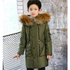 White Duck Down 2017 Winter Jacket For Boys Long Thick Big Teenage Boys Winter Coats With