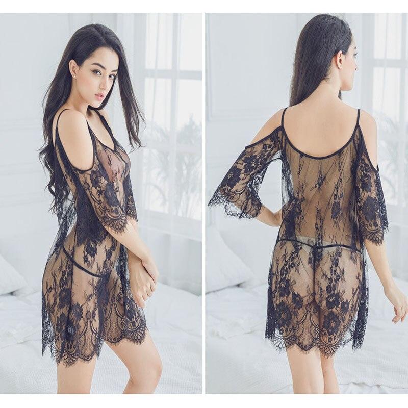 2018 Sexy Nachthemd Weibliche V-ausschnitt Strap Nachtwäsche Solide Frauen Nighty Kurzarm Sleep