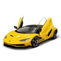 1:18 Масштаб Литой Сплав автомобиля игрушки модель для Lamborghini Lp770 спортивная модель автомобиля игрушка с рулевым колесом управление с оригина