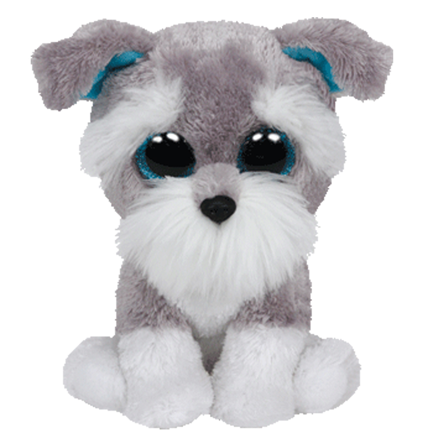 6 15cm Ty Beanie Boos WHISKERS the grey schnauzer dog Plush Regular Stuffed Animal Collection Soft Doll Toy cute husky grovel dog soft plush toy w knitting sweater white grey