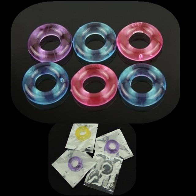 10 шт. Будьте жесткий Пончики силикона петух Кольца задержке эякуляции Кольца кольцо пениса гибкий клей Cockring Секс-игрушки для Для мужчин b2-2-9
