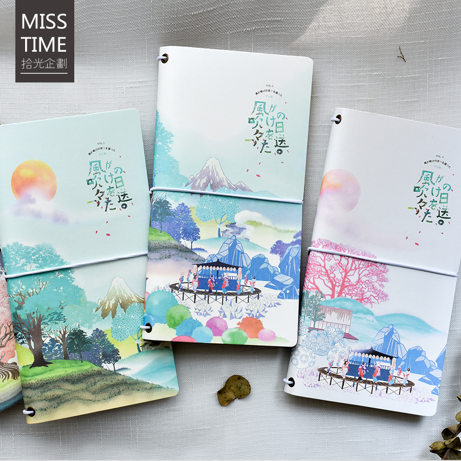 Japanese Travel Notebook Cute Portable Diary Book Cute Cartoon Planner Notepad Kids Gifts School Office Supplies Stationery norrath kawaii stationery cute notebook planner notepad diary book journal record office school supplies for kids gifts