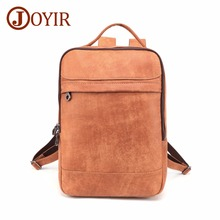 JOYIR Genuine Leather Backpack For Man Big Capacity Male Mochila 14