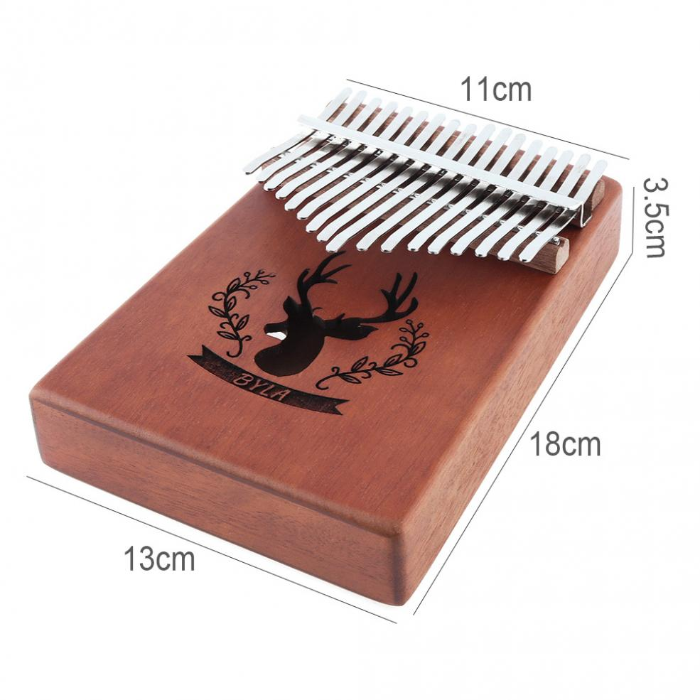 Купить с кэшбэком 17 Key Kalimba Elk Sound Hole Single Board Mahogany Thumb Piano Mbira Mini Keyboard Instrument  with Complete Accessories