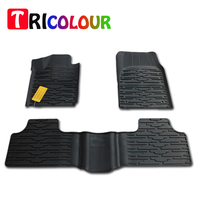 TRICOLOUR 3PCs Set Car Floor Foot Pad Front Rear Liner Waterproof Floor Mats Car Styling Carpet