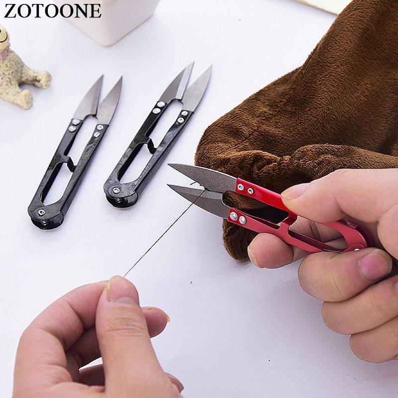 ZOTOONE DIY النسيج والملابس المطرزة مقص عشوائي اللون عبر غرزة التشذيب مقص الحرفية الخياطة أدوات والملحقات E 3