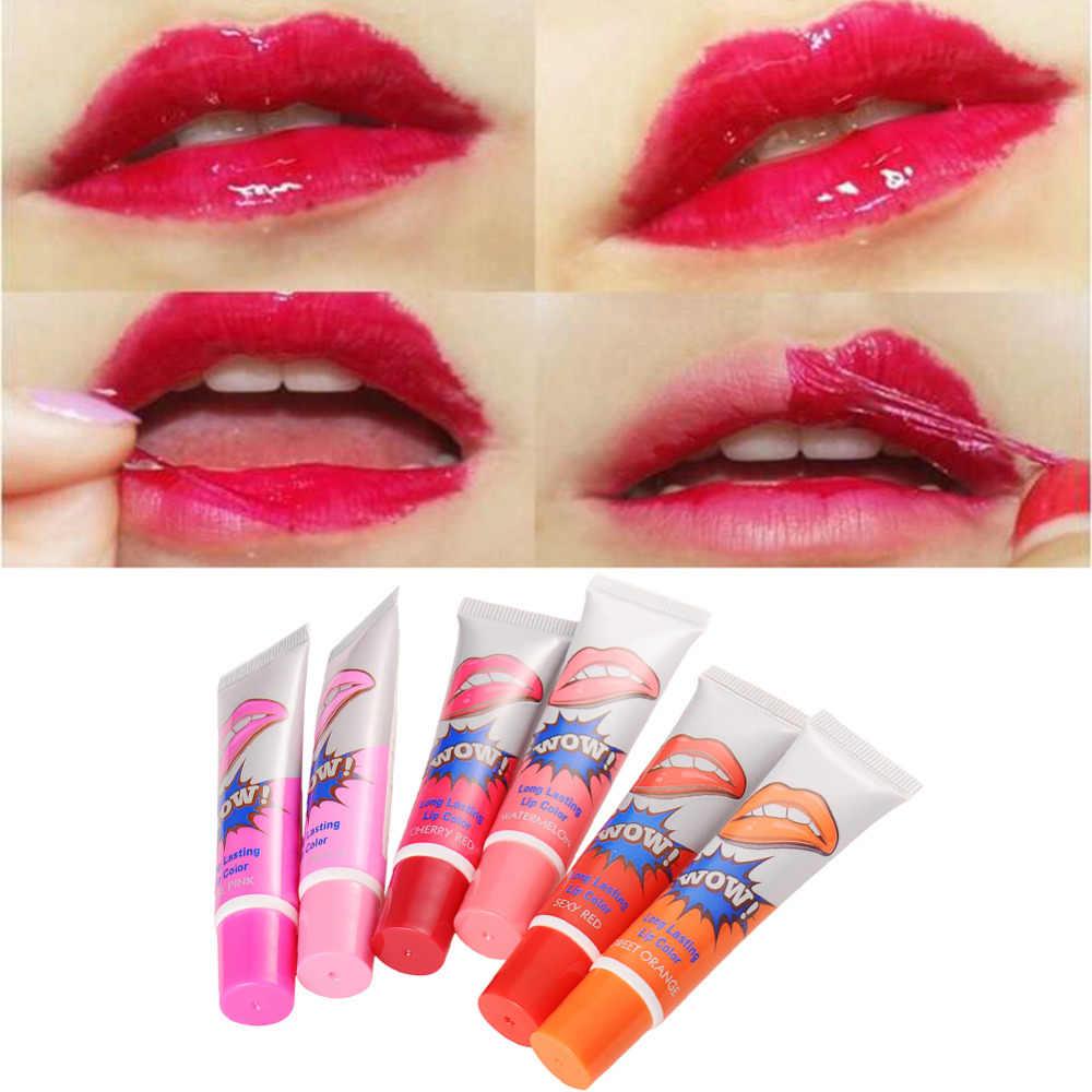 6 צבעים חמוד לאורך זמן גלוס גוון קעקוע מסכת עמיד למים מדבקת מט שפתון מותג איפור שמן ג 'ל נשים מזור קוסמטי