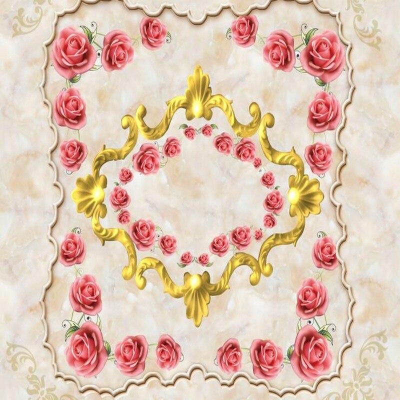 Beibehang Personalizzato Grande Murale Rosa Marmo Viso 3d Tv Camera