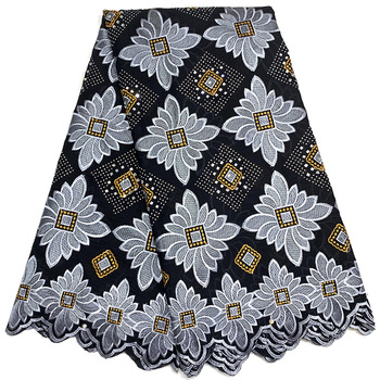 Hot sale Wonderful stones square pattern design with big stones Cotton Fabric FAS12 Great quality Swiss Voile Lace dress Fabric