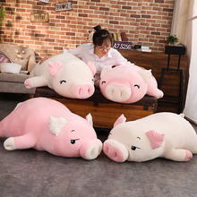 יפה רך למטה כותנה חזיר בפלאש בובה ממולא ורוד חזיר בובת תינוק תוכנה כרית מתנה לחברה 1pc 40 100CM