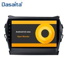 """9 """"auto stereo multimediale Android 8.0 GPS Per Auto Radio Player per Hyundai Santa fe IX45 2013 2014 2015 2016 con Octa Core 4G di RAM"""