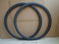 2Pcs New 700C 38mm Road Bicycle Matt Full Carbon Bike Wheel Clincher Rims With Basalt Brake
