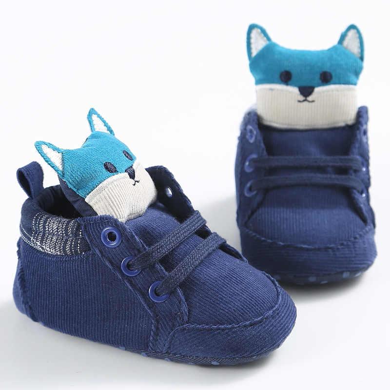 יילוד Cartoon פוקס רך נעליים פעוטה הליכונים הראשונים נעלי תינוק תחתונה 0-18 חודשים