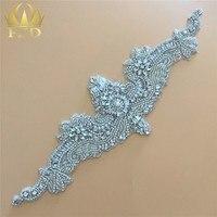 Cloths Rhinestone Applique Trimming For Wedding Dresses Bridal Sash Belt Sew On Crystals Patches DIY Glass