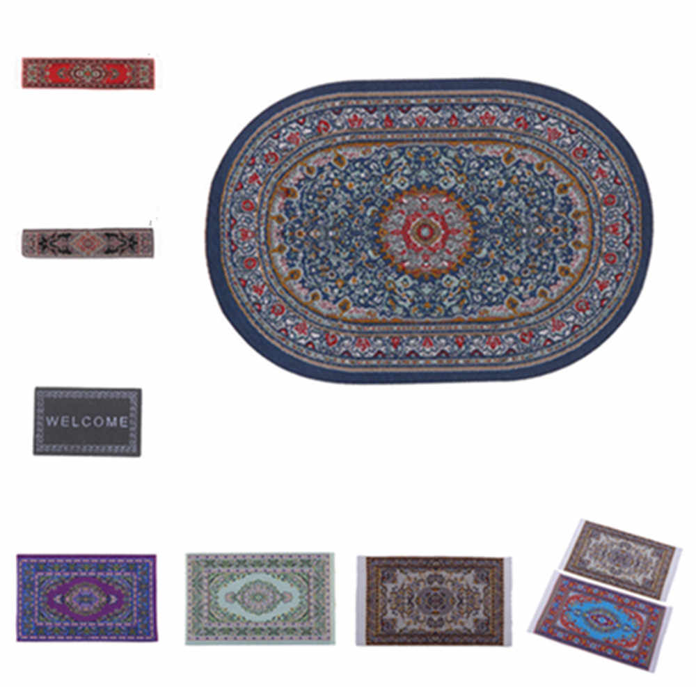 Dollhouse Area Rug/Carpet/Mat Floor Coverings for 1/12 Scale Dolls House Any Rooms Miniature Accessories  Furniture Decor