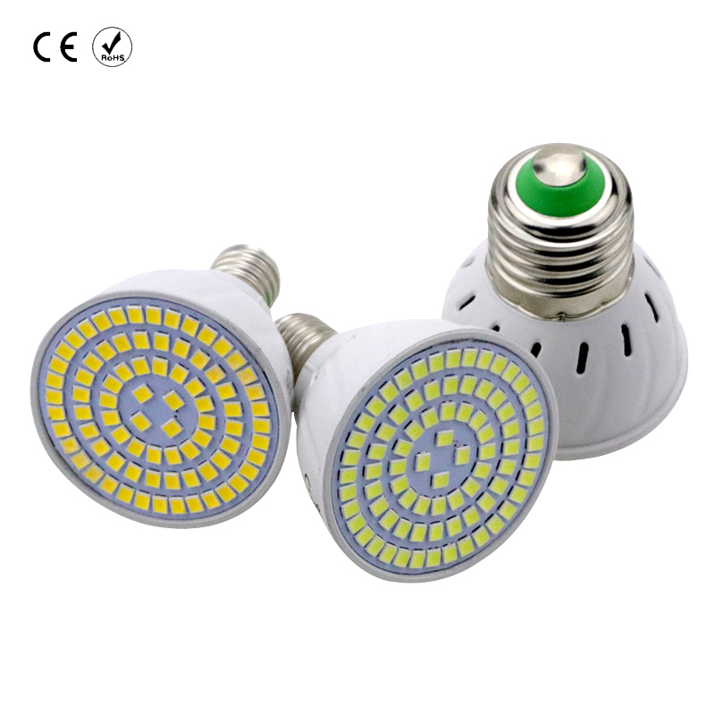 GU10 Spotlight Bulb LED lampada 48/60/80leds refletor lamp led Light MR16 2835SMD E27 E14 220V bombilla Household energy saving smart bulb e27 7w led bulb energy saving lamp color changeable smart bulb led lighting for iphone android home bedroom lighitng