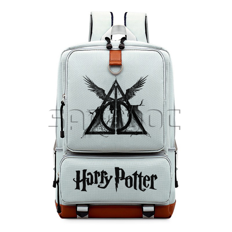 Harry Potter Boys Girls School Bags Canvas Backpack Hogwart Deathly Hallows Students Laptop Backpack For Teenagers Travel Bag