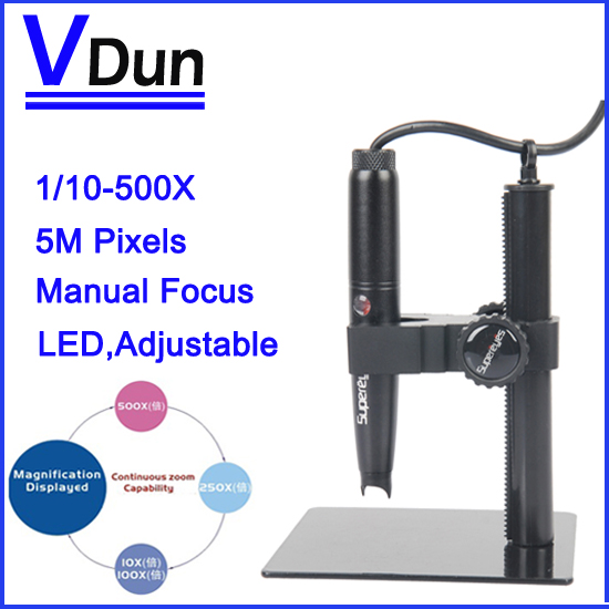 Supereyes B008 оборудование 5.0 м пикселей 500X зум USB цифровой видео микроскоп лупа регулируемая подставка + синий пластиковой упаковки коробки