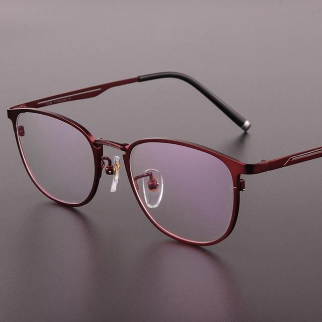 Genuino de la marca de alta gama para hombre gafas marcos pure titanium fotograma completo mens monturas de gafas cuadro de gafas graduadas 9915
