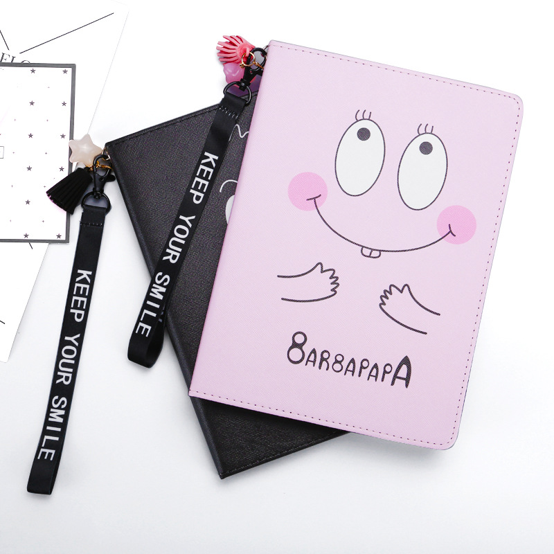 JIKE New Fashion Creative Cartoon Pattern Drop Protection Dormancy Imitation Leather Pad Case for Ipad 234 Mini 1234 Air 12 Pro