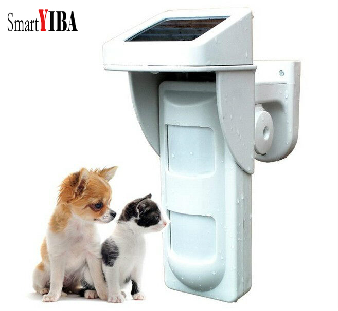 SmartYIBA sans fil 433 MHz Pet Friendly PIR capteur de mouvement extérieur solaire capteur infrarouge détecteur d'alarme pour la sécurité d'alarme de maison