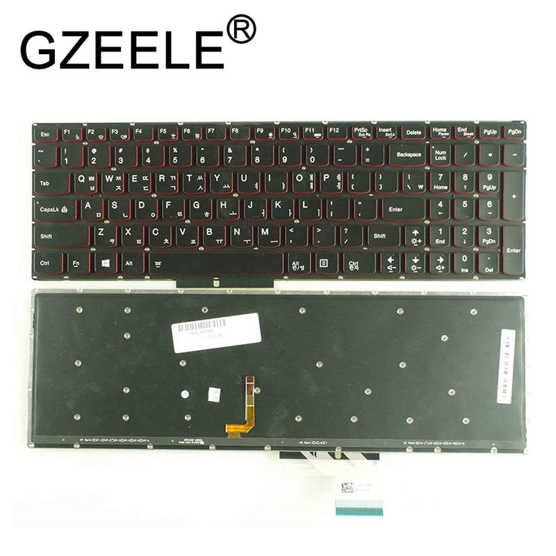 GZEELE KR KO Korean laptop Backlit keyboard for Lenovo IdeaPad Y50 Y50-70 Y50-70AS Y50-80 U530 U530P-IFI Keyboard Red backlit