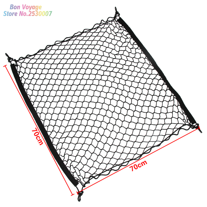 4 HooK Car Trunk Cargo Mesh Net Luggage For Volvo S40 S60