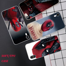 Silicone Phone Case Hero Deadpool Fashion Printing for iPhone XS XR Max X 8 7 6 6S Plus 5 5S SE Phone Case Matte Cover silicone phone case fashion sexy marilyn monroe printing for iphone xs xr max x 8 7 6 6s plus 5 5s se phone case matte cover