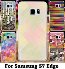 Hard Plastic and Soft TPU Cover For Samsung Galaxy S7 Edge G935A Cases with TotemBohemiaRed Girl LipsArtistic Painting Shell