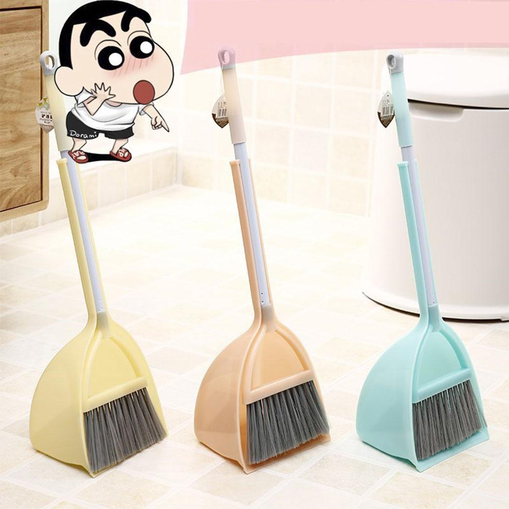 None Kids Stretchable Floor Cleaning Tools Mop Broom Dustpan Play-house Toys Gift zk30 magnolia 5624 24 inch garage floor broom