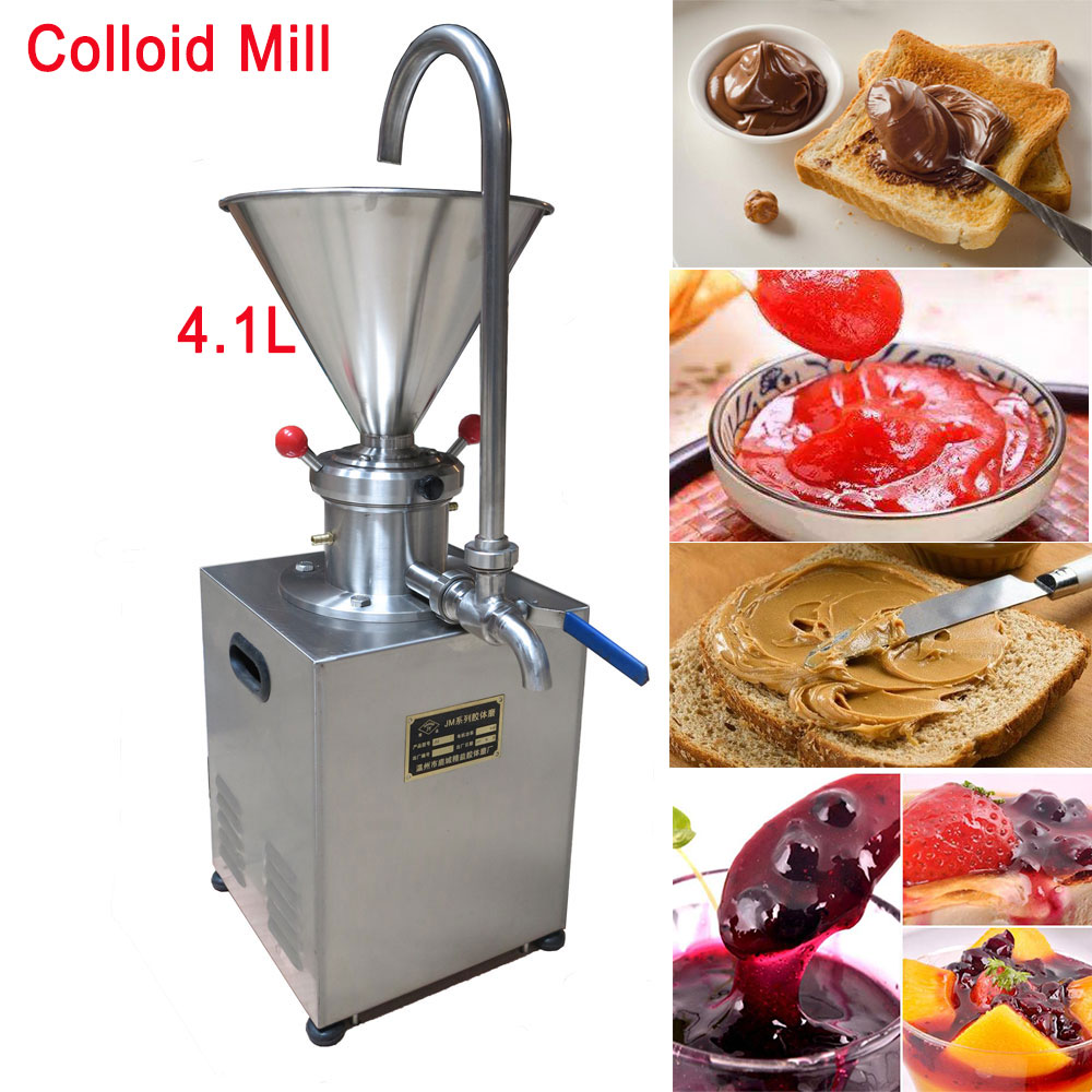 Blueberry Jam Colloid Mill Chocolate Tomato Grease Sesame Peanut Butter Machine for Food/Chemical/Pharmaceutical/Daily Chemical food pharmaceutical industry stainless steel seeds peanut butter sesame paste chilli sauce colloid milling machine