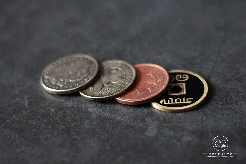 Copper Silver Brass Transposition Magic Tricks Magic Props Mentalism Magic Close Up Street Magia Toy,gimmicks