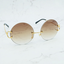 Round Fashion Sunglasses Circle Glasses Designer Men Luxury Carter Sunglass Women Holiday Decoration