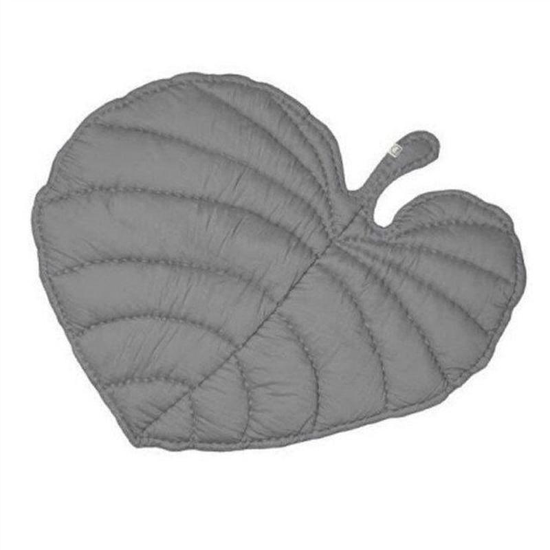 KAMIMI Kids Baby Soft Toys Sweat-Heat Gray Leaf Blanket Cotton Carpet Mat Kids Baby Mats Toys Carpet 0-6 Years Bady Creeping M