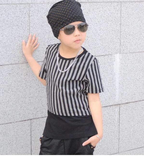 2019 تابستان پسر جدید مد مد تی شرت یقه - لباس کودکان