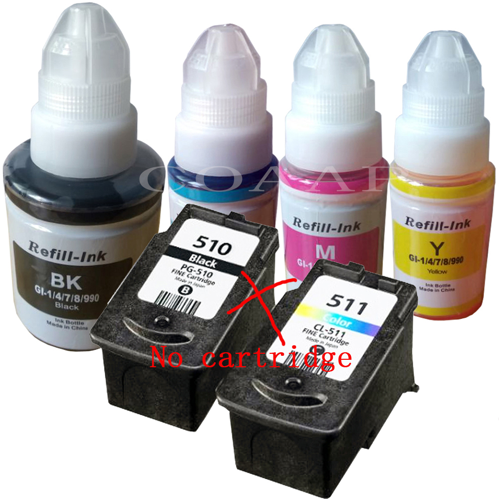 Refillable PG510 CL511 Inks For Canon Pixma MP 230 237 240 250 252 258 260 270 272 280 282 480 490 492 495 499 Printer