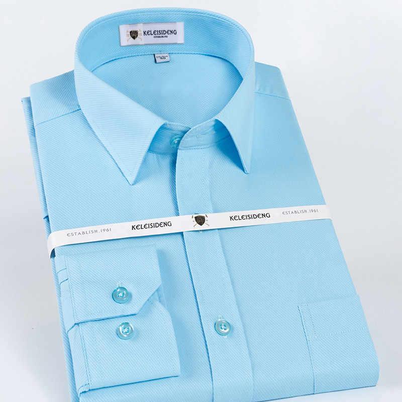 Basical スタイル正方形カラー長袖優れたコットンソフト快適なレギュラーフィット固体ツイルビジネス男性ドレスシャツ
