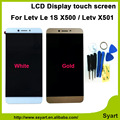 White Gold New arrivel LCD display screen  touch digitizer glass assembly 1920x1080 Replacement Screen lcd For Letv Le 1S X500