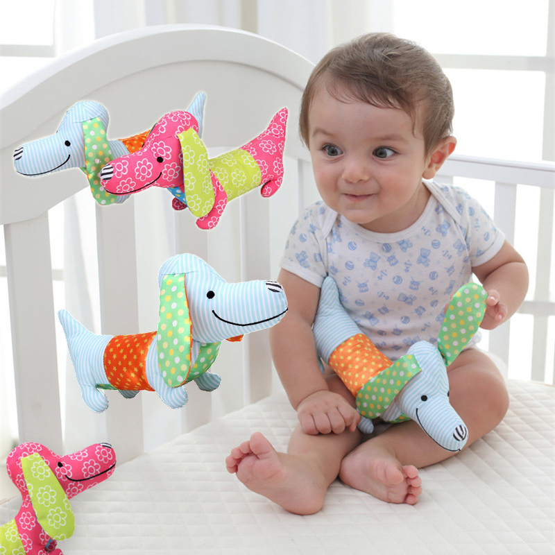 Newborn Rattles toy Animals dog baby rattles plush Handbells BeBe toys for children