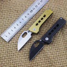 Eafengrow JD Folding folding 5CR15 blade + Stainless Steel Handle Titanium plating Flipper Outdoor Camp Pocket EDC Tool knife
